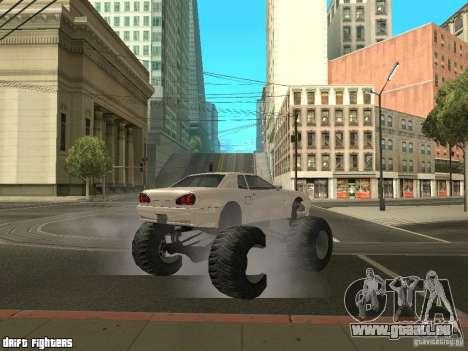 Elegy Monster pour GTA San Andreas vue arrière