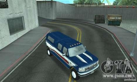 Ford F-350 1992 für GTA San Andreas Innen