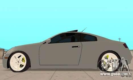 Nissan Skyline 350GT 2003 für GTA San Andreas zurück linke Ansicht