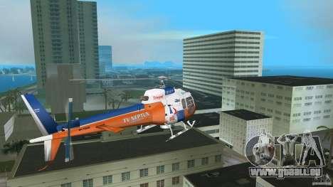 Eurocopter As-350 TV Neptun pour GTA Vice City sur la vue arrière gauche