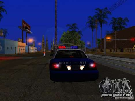 Ford Crown Victoria Belling State Washington für GTA San Andreas Innenansicht