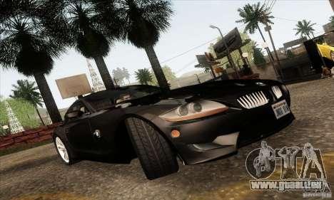 BMW Z4M für GTA San Andreas Innenansicht