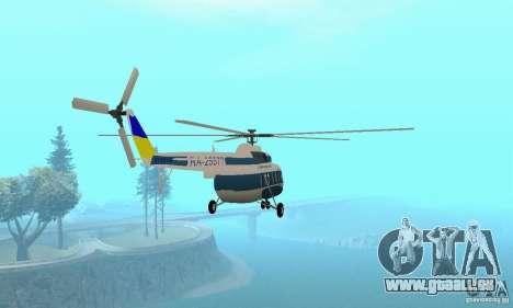 MI-17 zivil (ukrainisch) für GTA San Andreas linke Ansicht