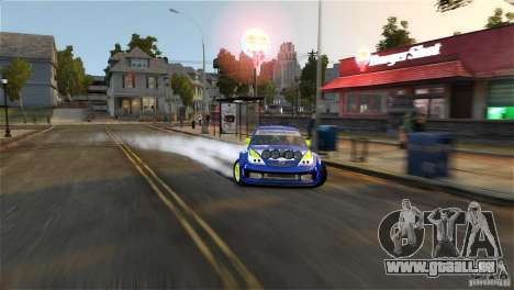 Subaru Impreza WRX STI Rallycross BFGoodric pour GTA 4 est une vue de dessous