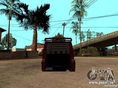Ford Transit Tuning pour GTA San Andreas sur la vue arrière gauche