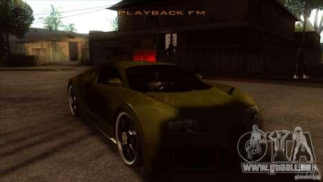 Bugatti Veyron Life Speed für GTA San Andreas Rückansicht