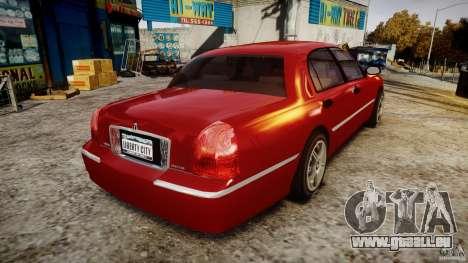Lincoln Town Car 2003 pour GTA 4 est un côté