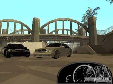 Mercedes-Benz S600 AMG für GTA San Andreas zurück linke Ansicht