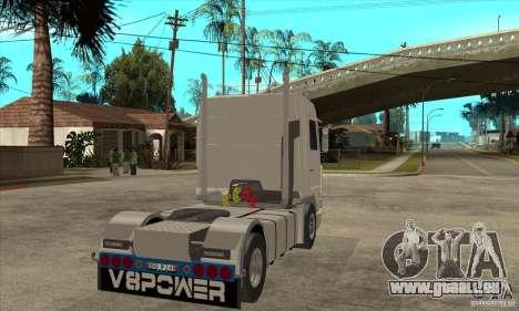 Scania 143M 500 V8 pour GTA San Andreas vue de droite