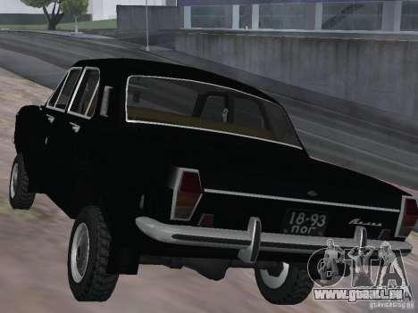 95 VOLGA GAZ-24 pour GTA San Andreas sur la vue arrière gauche