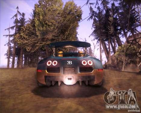 Bugatti Veyron Super Sport pour GTA San Andreas sur la vue arrière gauche