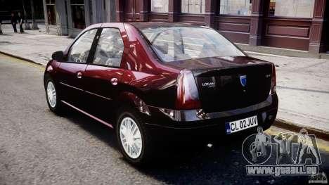 Dacia Logan 2007 Prestige 1.6 pour GTA 4 est un droit