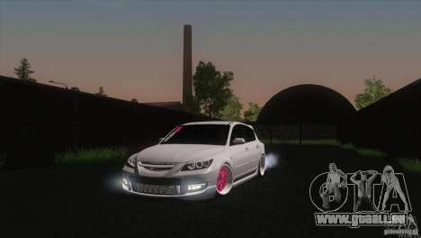 Mazda MazdaSpeed 3 pour GTA San Andreas vue arrière