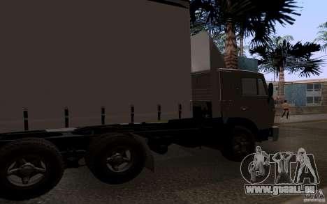 KAMAZ 55111 für GTA San Andreas zurück linke Ansicht