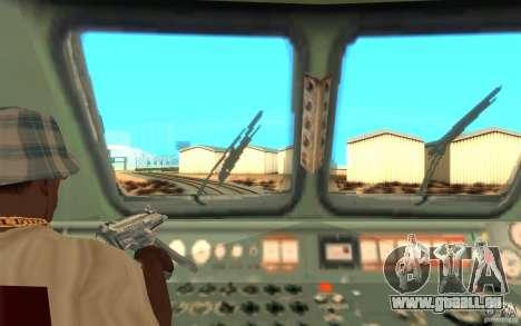 Lokomotiv ChS7-082 pour GTA San Andreas vue arrière