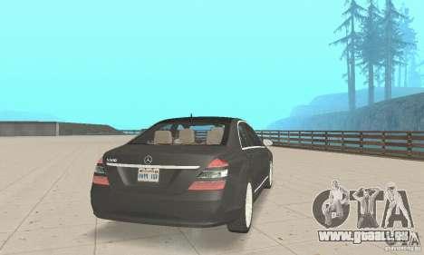Mercedes-Benz S500 (w221) 2006 pour GTA San Andreas laissé vue