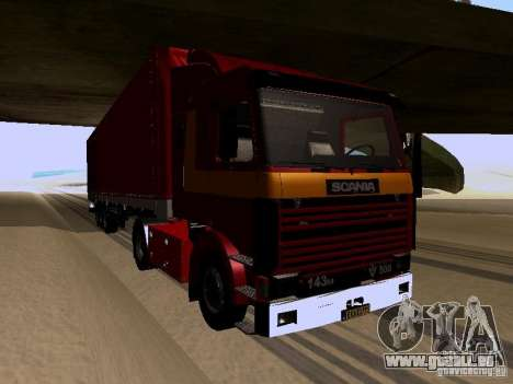 Scania 143M pour GTA San Andreas laissé vue