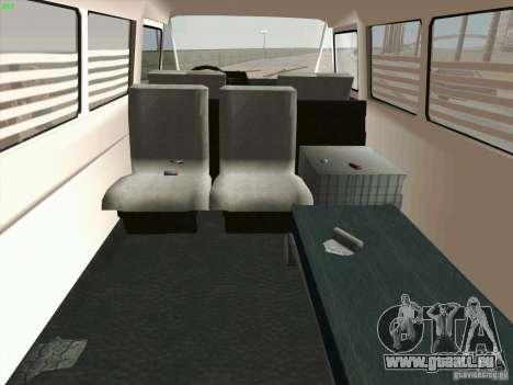 Zuk A-1805 pour GTA San Andreas vue intérieure