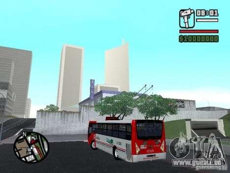 Caio Millennium TroleBus pour GTA San Andreas laissé vue