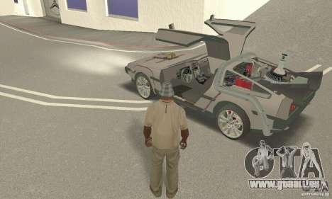 DeLorean DMC-12 (BTTF3) für GTA San Andreas Rückansicht