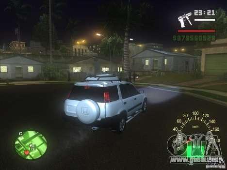 Honda CRV 1997 für GTA San Andreas obere Ansicht