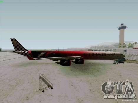 Airbus A-340-600 Formula 1 pour GTA San Andreas laissé vue
