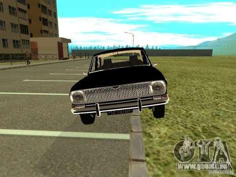 Volga GAZ-24 01 pour GTA San Andreas sur la vue arrière gauche