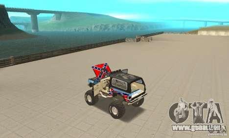 Chevrolet Blazer K5 Monster Skin 1 pour GTA San Andreas vue intérieure