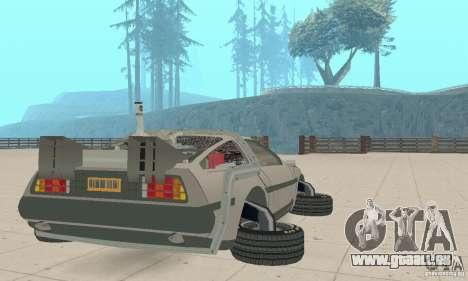 DeLorean DMC-12 (BTTF2) für GTA San Andreas zurück linke Ansicht