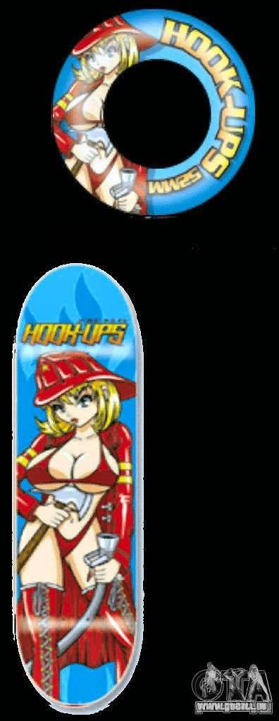 Skateboard # 4 für GTA 4 Seitenansicht