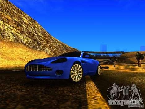 Aston Martin V12 Vanquish V1.0 pour GTA San Andreas vue arrière