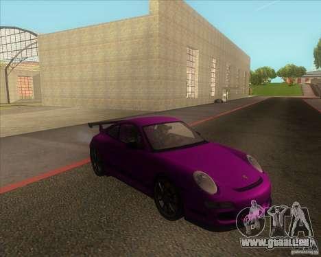 Porsche 997 GT3 RS für GTA San Andreas zurück linke Ansicht