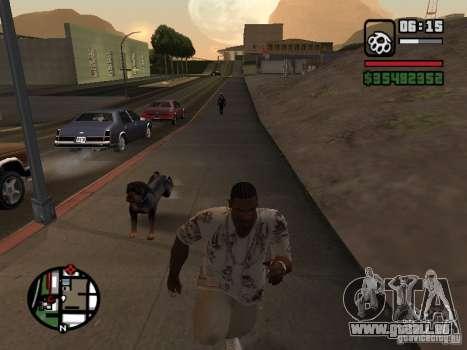 Rottweiler pour GTA San Andreas quatrième écran