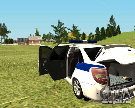 VAZ 2190 Police pour GTA San Andreas vue de droite