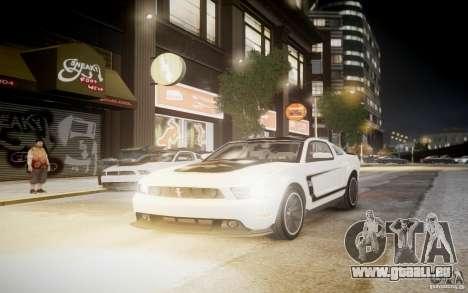 Ford Mustang 2012 Boss 302 v1.0 pour GTA 4 Vue arrière de la gauche