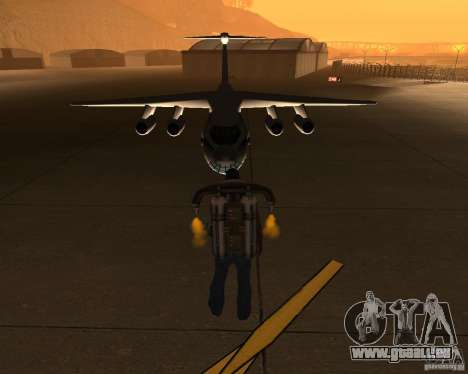 Die IL-76 für GTA San Andreas Rückansicht