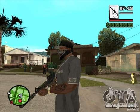 HQ M4A1 - DMG MK11 pour GTA San Andreas deuxième écran