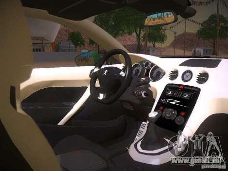 Peugeot RCZ 2010 pour GTA San Andreas vue arrière