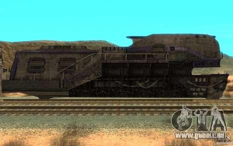 Ein Zug aus dem Spiel Aliens Vs Predator v1 für GTA San Andreas linke Ansicht