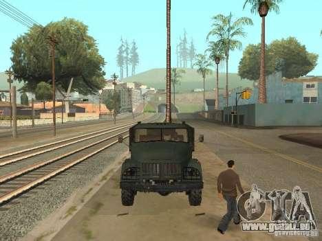 ZIL 131 camion pour GTA San Andreas vue arrière
