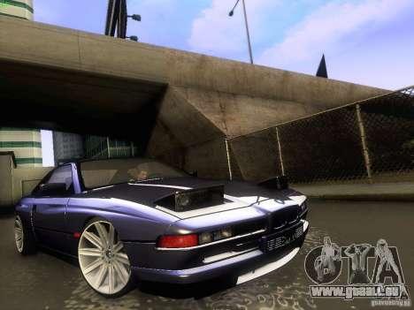 BMW 850 CSI für GTA San Andreas Innenansicht