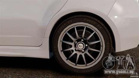 Subaru Impreza Cosworth STI CS400 2010 v1.2 pour GTA 4 est une vue de l'intérieur