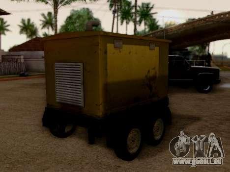 Trailer Generator für GTA San Andreas zurück linke Ansicht