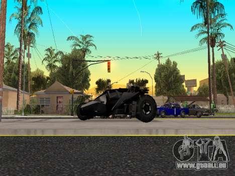 Tumbler Batmobile 2.0 pour GTA San Andreas laissé vue