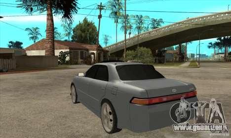 TOYOTA MARK II GT pour GTA San Andreas sur la vue arrière gauche