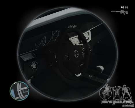 Mercedes Benz B63 S Brabus v1.0 pour GTA 4 est une vue de l'intérieur
