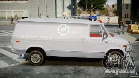 Chevrolet G20 Police Van [ELS] für GTA 4 Rückansicht