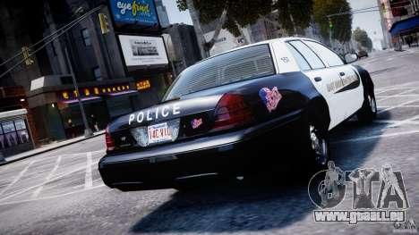 Ford Crown Victoria Massachusetts Police [ELS] pour GTA 4 Vue arrière de la gauche