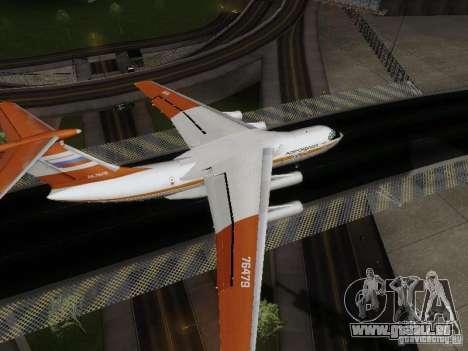 Iljuschin Il-76td für GTA San Andreas zurück linke Ansicht