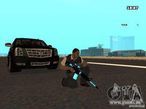 Black & Blue guns für GTA San Andreas her Screenshot